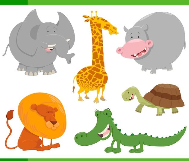 Set di caratteri animali safari