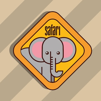 Cartone animato di animali safari