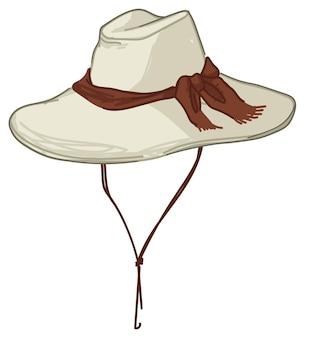 Cappello da safari, cappuccio protettivo per i turisti vettore