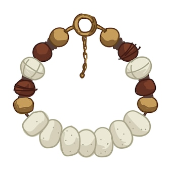 Bracciale o collana in stile safari in materiale naturale