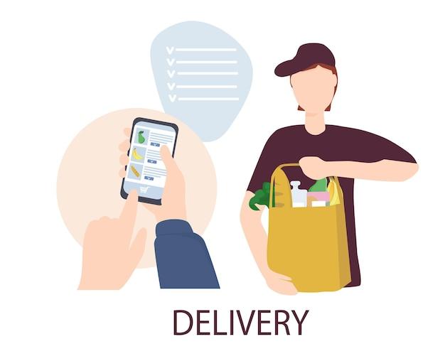 Consegna sicura di generi alimentari e cibo dal ristorante a casa tua