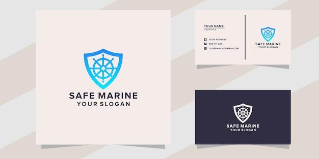 Modello di logo marino sicuro