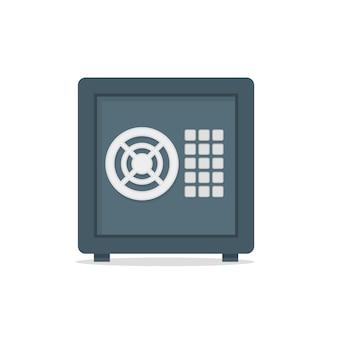 Scatola metallica sicura denaro sicuro concetto simbolo vettore
