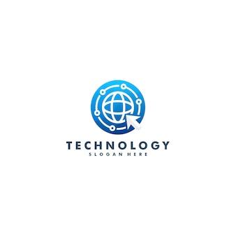 Design del logo safe technology. simbolo dell'icona di sicurezza internet