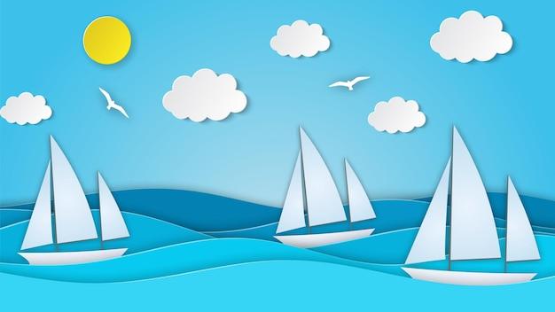 Barca a vela in mare.