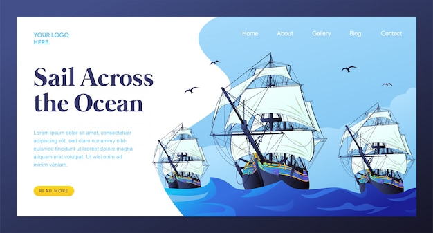Pagina di destinazione della vela