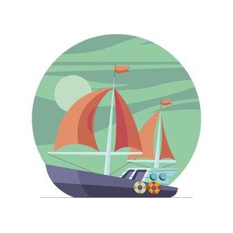Veicolo per yacht a vela