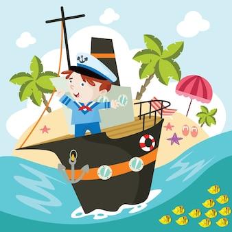 Illustrazione del fumetto del marinaio