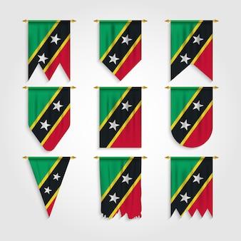 Bandiera saint kitts e nevis in varie forme