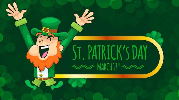 Saint patrick day e happy leprechaun