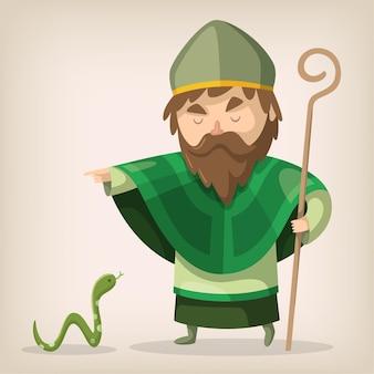 San patrizio indica che un serpente se ne va