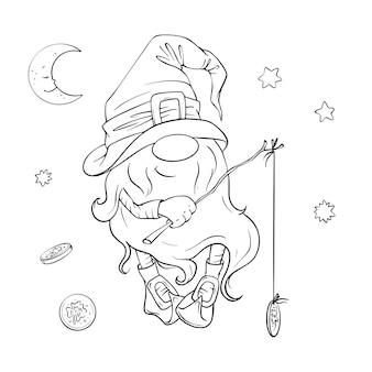 Set per le vacanze di san patrizio, gnomo simpatico cartone animato, leprechaun. illustrazione.
