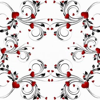 Fondo astratto floreale del cuore del giorno di san valentino