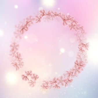 Sakura volare sottovento petali di vento.