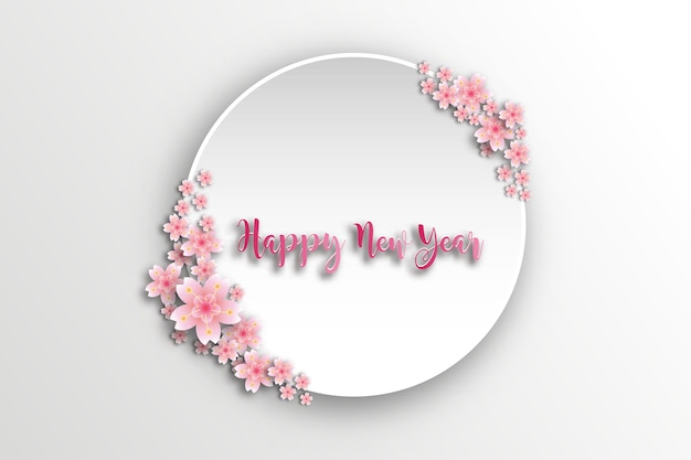 Cornice sakura. carta vacanze di primavera