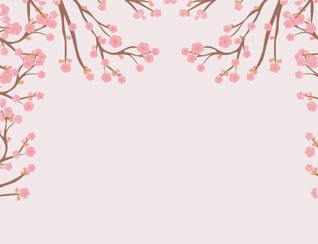 Disegno dell'albero di sakura
