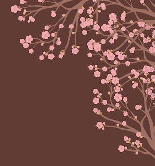 Cornice dell'albero di sakura