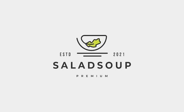 Illustrazione di progettazione di vettore di logo dell'alimento dell'insalata