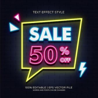 Vendita del 50% su effetti di testo neon
