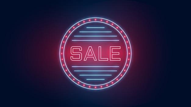 Sfondo di vendita a luci al neon