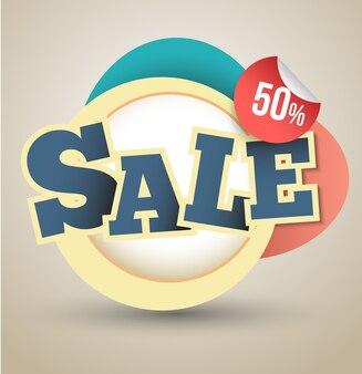 Banner in vendita del 50 percento