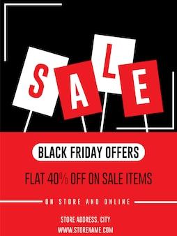 Banner di vendita per modello di volantino banner annuncio vendita venerdì nero