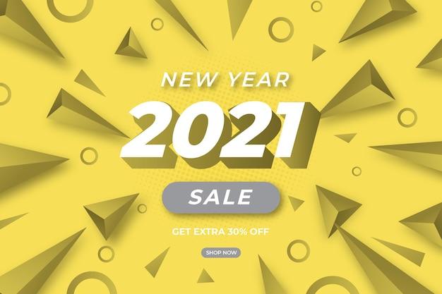 Banner di vendita in colori grigi illuminanti e finali con offerta speciale
