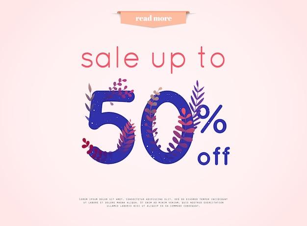 Illustrazione di banner di vendita