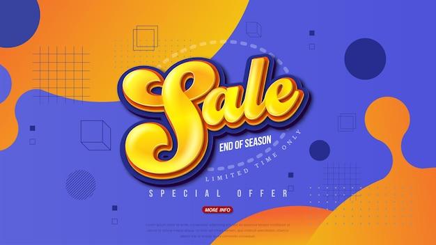 Progettazione del modello di banner di vendita, offerta speciale di grande vendita. super saldi, banner di offerta speciale di fine stagione.