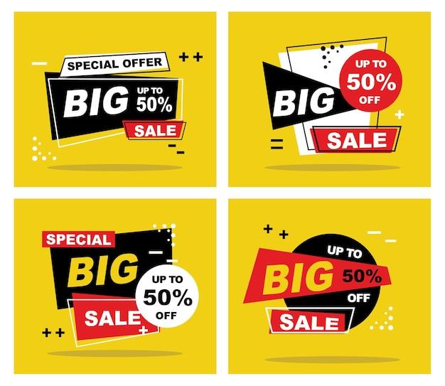 Banner di vendita modello di progettazione offerta speciale di grande vendita illustrazione vettoriale