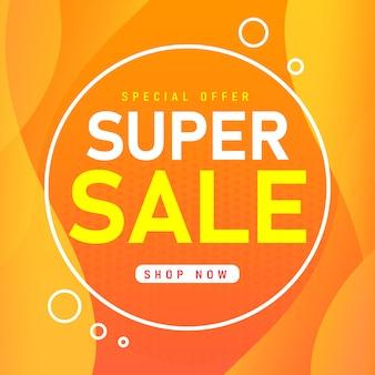 Vendita modello di banner design, offerta speciale di vendita super.
