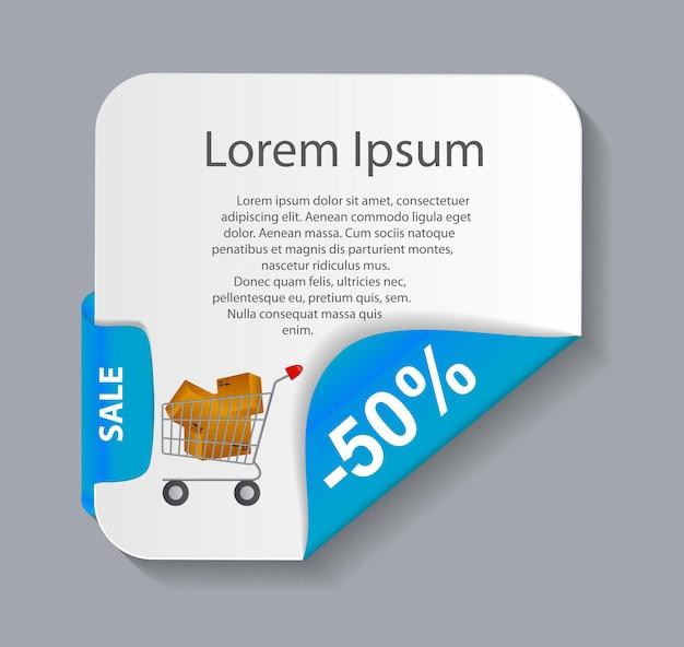 Banner di vendita con posto per il testo. illustrazione vettoriale
