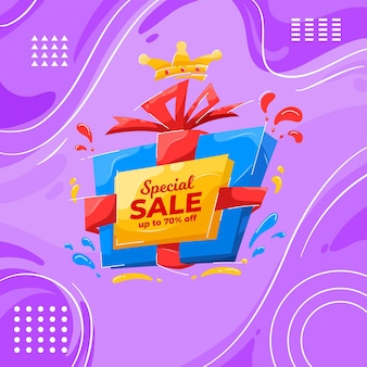 Set di banner di vendita colorati