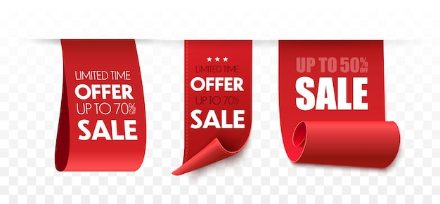 Banner di vendita. set di tag offerta.