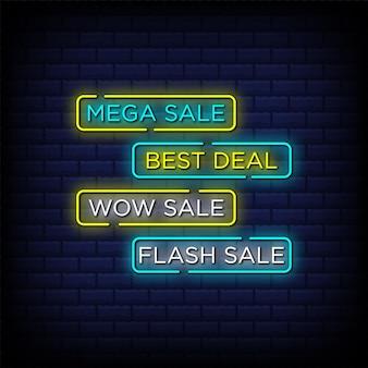 Set di pulsanti di vendita