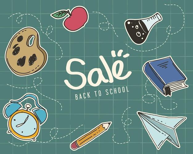 Concetto di vendita con cornice icona educazione