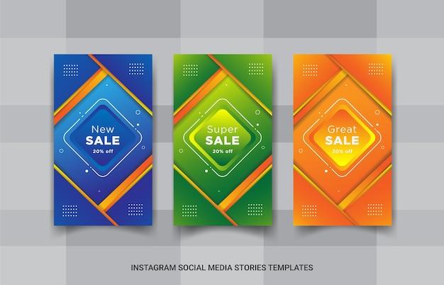 Storie di instagram di vendita impostate