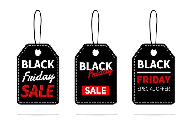 Progettazione di etichette di vendita per fare una promozione per il blackfriday alla fine dell'anno.
