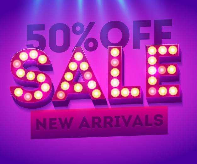 Banner di nuovi arrivi in vendita. modelli di vendita. modello per la vendita e la pubblicità. vendita