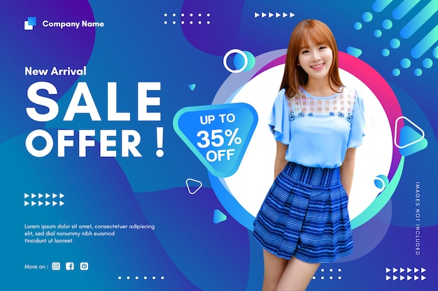 Offerta di vendita banner