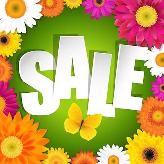 Cartolina di vendita con gerbers con gradiente maglie, illustrazione