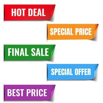 Vendita poster set con sfondo bianco con gradiente maglie, illustrazione