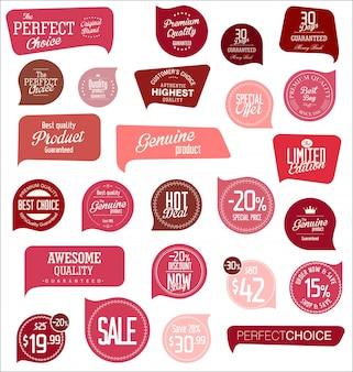 Collezione di cartellini dei prezzi di vendita
