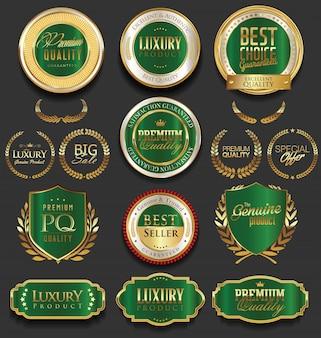 Distintivi d'oro retrò vintage di vendita