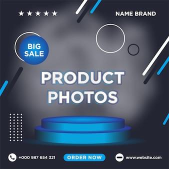 Modello di post sui social media di vendita vettore premium