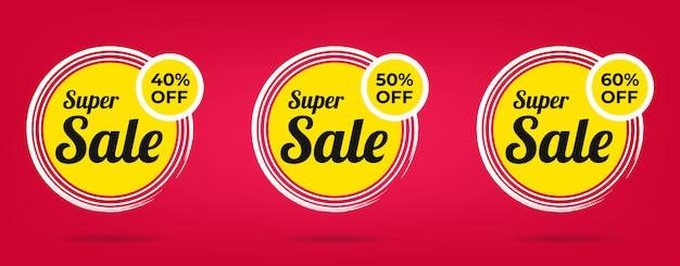 Banner di vendita speciale offerta e cartellini dei prezzi