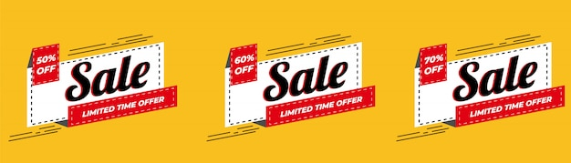 Vendita offerta speciale e cartellini dei prezzi design premium vector