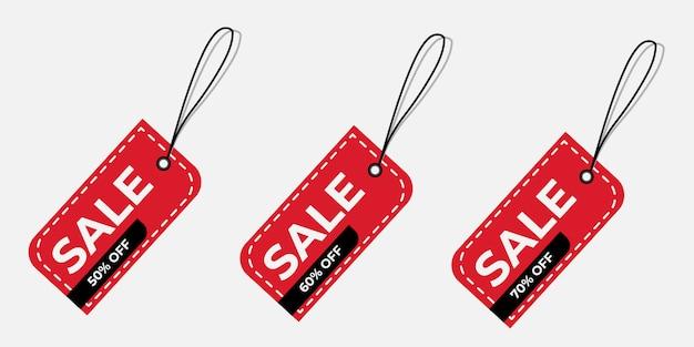 Offerta speciale di vendita e cartellini dei prezzi Vettore Premium