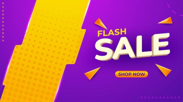 Banner modello di vendita in colori vivaci, illustrazione vettoriale