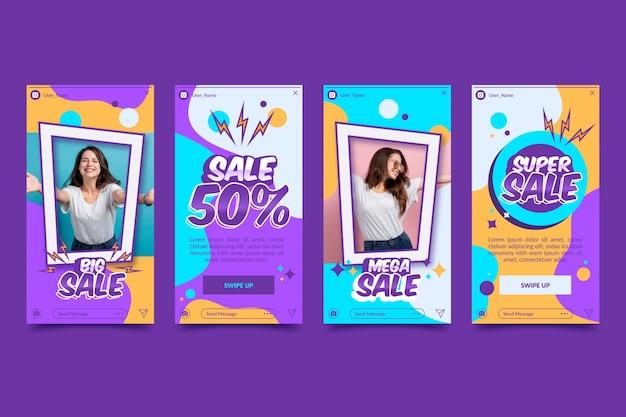Storie di instagram di vendita